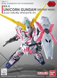Gundam Model Kit SD Gundam EX-Standard 005 Unicorn Destroy - Bandai [Nieuw]