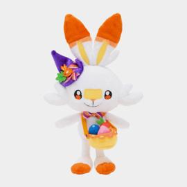 Pokemon Pluche Scorbunny Halloween 2021 Knuffel - Pokemon Center [Nieuw]