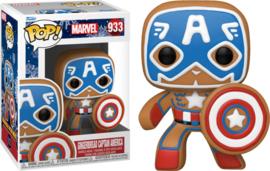 Marvel Holiday Funko Pop Gingerbread Captain America #933 [Pre-Order]
