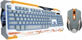 Gaming Toetsenbord Dragon War Sencaic Mouse + Keyboard (qwerty) White Edition - Dragon War [Nieuw]