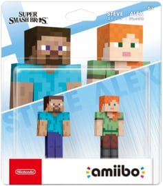Amiibo Minecraft Alex & Steve - Super Smash Bros [Pre-Order]