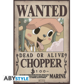 One Piece Poster Wanted Chopper (52x35cm) - ABYStyle