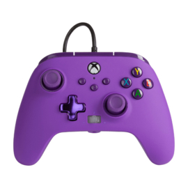 Xbox Controller Wired - Royal Purple (Series X & S - Xbox One) - Power A [Nieuw]