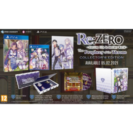 Ps4 Re:ZERO Starting Life in Another World The Prophecy of the Throne Limited Edition [Pre-Order]