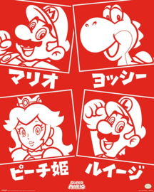 Nintendo Poster Super Mario Characters (40x50cm) - Pyramid International