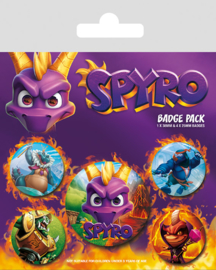 Spyro Reignited Characters Button Pack - Pyramid International