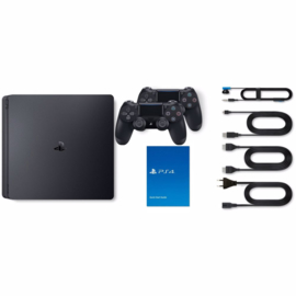 Playstation 4 Console Slim 500GB +  Extra Controller (Black) [Nieuw]