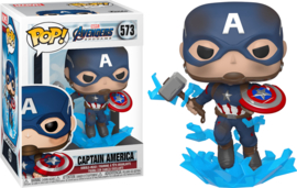 Marvel Avengers Endgame Funko Pop - Captain America with Broken Shield #573 [Nieuw]