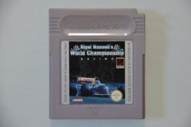Gameboy Nigel Mansell's World Championship Racing