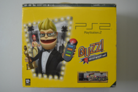 Playstation 2 Console Phat (Zwart) Buzz Hollywood Quiz Pack [Compleet]