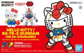 Gundam Model Kit SD EX-Standard Hello Kitty / RX-78-2 Gundam - Bandai [Nieuw]