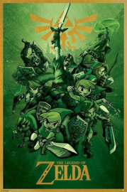 The Legend Of Zelda Poster Link Trough Time (61x91cm) - Pyramid International