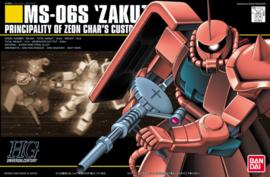 Gundam Model Kit HG 1/144 MS-06S Zaku II Principality of Zeon Char's Custom - Bandai [Nieuw]