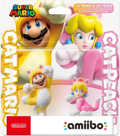 Amiibo Cat Mario & Cat Peach Dubbelpack- Super Mario 3D World [Pre-Order]