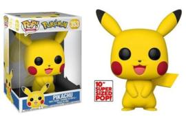 """Pokemon Funko Pop - Pikachu 10"""" Super Sized #353 [Nieuw]"""