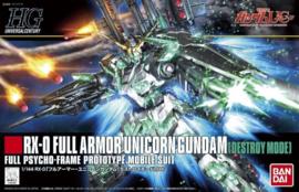 Gundam Model Kit HG 1/144 RX-0 Full Armor Unicorn Gundam [Destroy Mode] - Bandai [Nieuw]