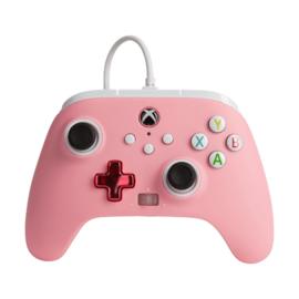 Xbox Controller Wired - Roze (Series X & S - Xbox One) - Power A [Nieuw]