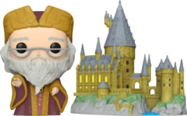Harry Potter 20th Anniversary Funko Pop Town Deluxe Albus Dumbledore With Hogwarts [Pre-Order]