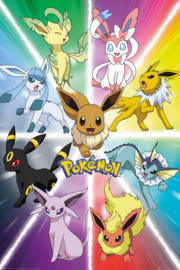 Pokemon Poster Eevee Evolution (61x91cm) - Pyramid International