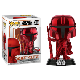 Star Wars The Mandalorian Funko Pop - The Mandalorian Red Chrome #345 [Nieuw]