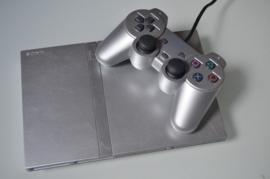 Playstation 2 Console Slim (Zilver/Grijs)
