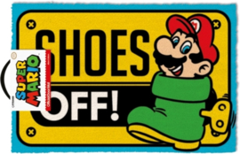 Nintendo Super Mario Bros 3 Shoes Off! Deurmat - Pyramid International
