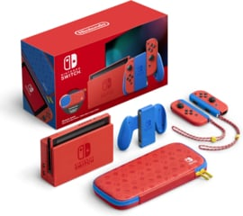 Nintendo Switch Console Mario Red & Blue Edition 2019 Upgrade [Nieuw]