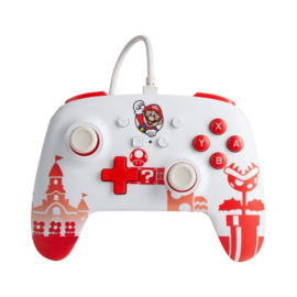 Nintendo Switch Wired Controller Mario Red/White - PowerA [Nieuw]