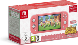 Nintendo Switch Lite Console (Coral) + Animal Crossing: New Horizons [Nieuw]