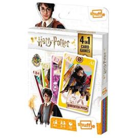 Harry Potter 4 in 1 Speelkaarten (Kwartet, Memo, Snap, Actie spel) - Shuffle