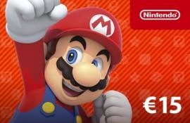 Nintendo tegoed 15 EURO NL