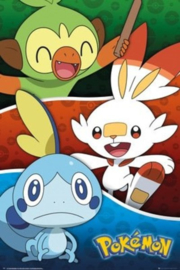 Pokemon Poster Pokemon Galar Starters (61x91cm) - Pyramid International