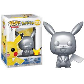 Pokemon Funko Pop - Pikachu Silver Metallic #353 [Pre-Order]