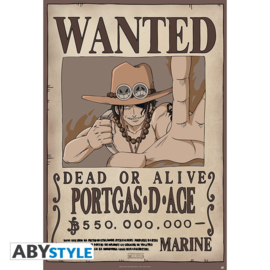 One Piece Poster Wanted Portgas D Ace (61x91cm) - ABYStyle