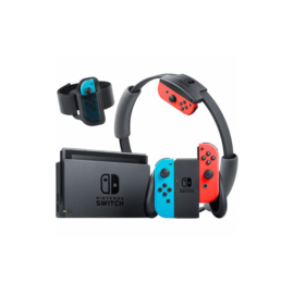 Nintendo Switch Console Ring Fit Bundle (Neon Blue & Red 2019 Upgrade) [Nieuw]