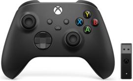 Xbox Controller Wireless + Wireless Adapter voor Windows 10 - Carbon Black (Series X & S - Xbox One) - Microsoft [Nieuw]