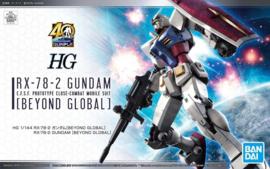 Gundam Model Kit HG 1/144 RX-78-2 Gundam Beyond Global - Bandai [Nieuw]