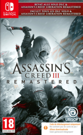 Switch Assassins Creed III Remastered + Assassins Creed Liberation (Code In A Box) [Nieuw]