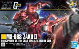 Gundam Model Kit HG 1/144 MS-06S Zaku II Principality of Zeon Char Aznable's Mobile Suit - Bandai [Nieuw]