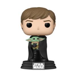 Star Wars The Mandalorian Funko Pop Luke Skywalker With The Child #482 [Pre-Order]