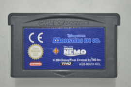 GBA Disney Pixar Monsters en Co + Finding Nemo