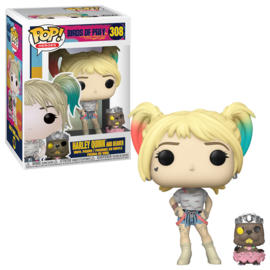 Birds of Prey Funko Pop - Harley Quinn with Beaver #308 Nieuw]