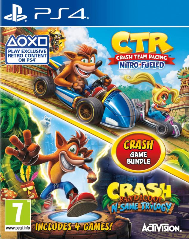 Ps4 Crash 2 Pack (Crash Team Racing Nitro Fueled + Crash Bandicoot N Sane Trilogy) [Nieuw]