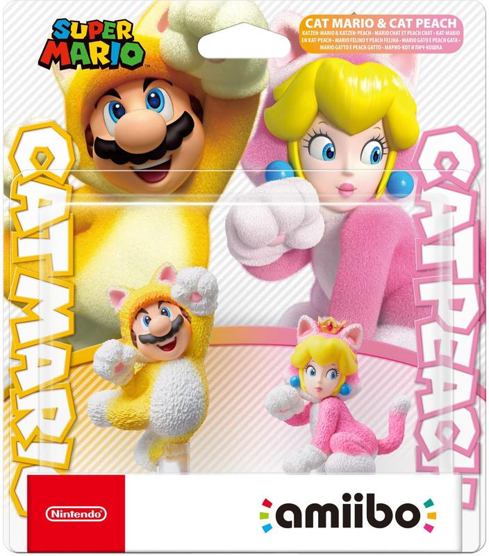 Amiibo Cat Mario & Cat Peach Dubbelpack- Super Mario 3D World [Nieuw]