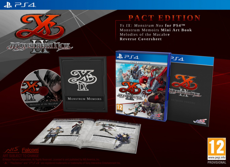 Ps4 YS IX Monstrum Nox Pact Edition [Nieuw]