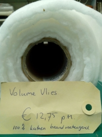 Volume vlies 1,5 m. br. x 1 m. lengte