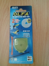Olfa reserve 28 mm mes.