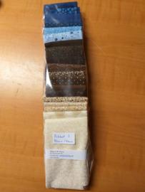 PAKKET 3 Bruin /Blauw