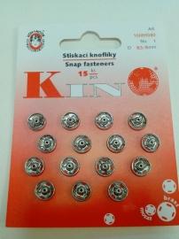 Drukknopen 8 mm zilver