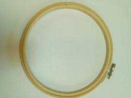 Borduur ring hout 15 cm